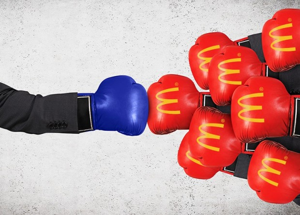 Regional QSR battling giant McDonald's with boxing gloves