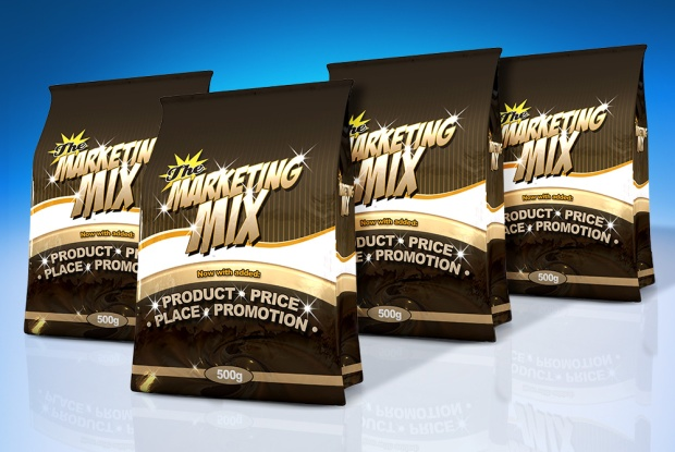 """Marketing Mix"" snack bags to illustrate Bowman Media Model effectiveness in QSR Marketing"