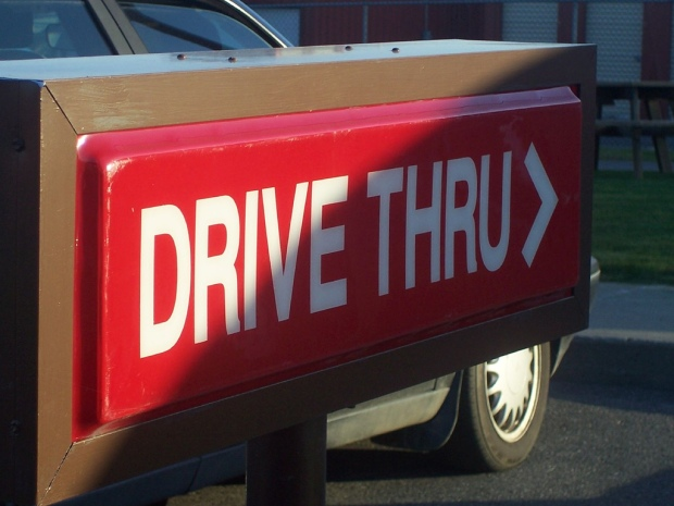 QSR Marketing POP Effective Advertising Drive Thru sign