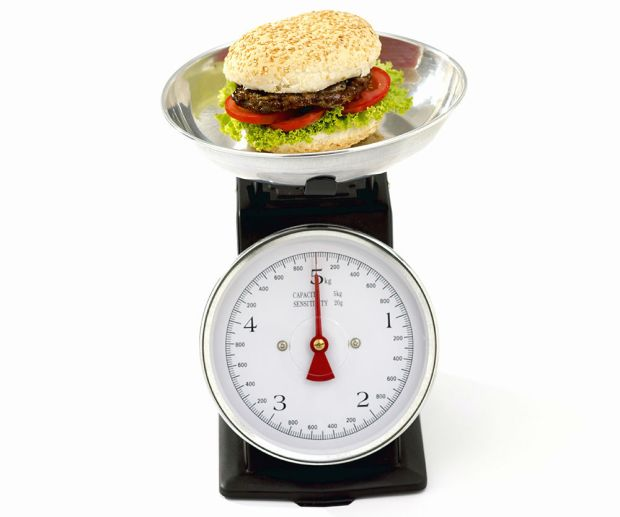 Weighing rubber fast food burger to set best price